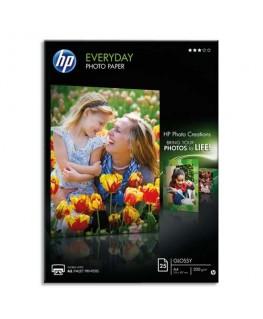 Pochette de 25 feuilles papier qualité photo semi-glacée séchage instantané A4 200g - HP