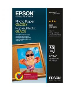Pack de 50 feuilles papier photo premium jet d'encre glossy format 10 x 15 cm 200g - Epson®