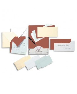 Paquet de 25 cartes POLLEN 210g 11 x 15.5 cm - Clairefontaine