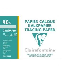 Pochette de 12 feuilles A4 papier calque 95g - Clairefontaine