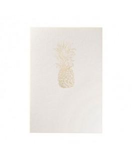 Carte de vœux GOLD Ananas