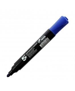 Marqueur permanent pointe ogive corps plastique encre bleue à base d'alcool - 5 Etoiles
