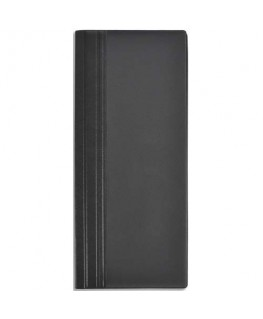 Porte-cartes de visite Elégance noir capacité 64 cartes en PVC expansé - Elba®
