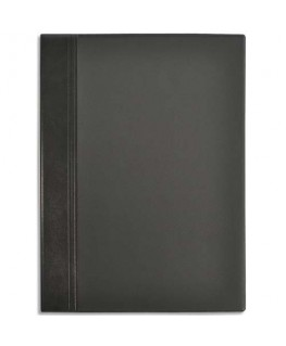 Album Elégance noir capacité 400 cartes de visite en PVC expansé A4 - Elba®