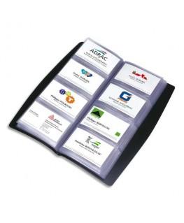 Porte-cartes de visite tout terrain noir capacité 240 cartes en PVC - Elba®