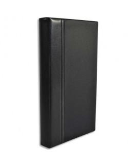Classeur porte-cartes de visite Elégance noir 140 cartes capacité 300 cartes - Elba®