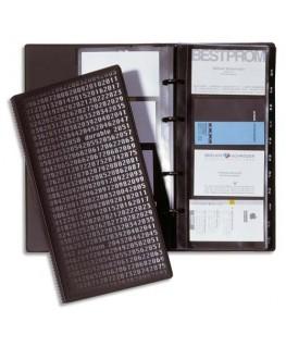 Reliure Visifix Centium noire à anneaux pour 280 cartes de visite - Durable