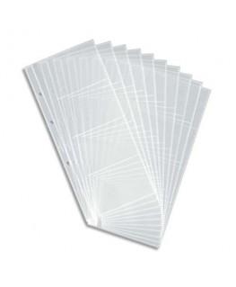 Sachet de 10 pochettes de 8 vues transparentes pour cartes de visite Visifix Centium - Durable