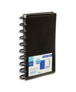 Porte-cartes de visite noir Géode System capacité 160 cartes en polypropylène - Viquel