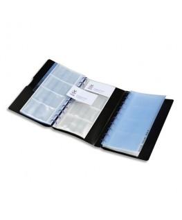 Porte-cartes de visite noir Geode Business capacité 240 cartes en polypropylène - Viquel