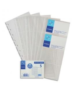Lot de 5 Recharges de pochettes pour porte-cartes de visite Géode - incolore - Viquel