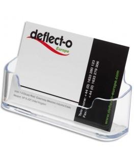 Porte-cartes de visite standard transparent 9.6 x 4.5 x 3.5 cm - Deflect-o®