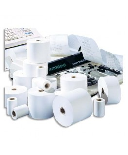 Bobine pour calculatrice 57 x 57 x 12.7 mm papier offset extra blanc 60g - 5 Etoiles