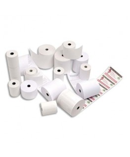 Bobine pour caisse enregistreuse papier blanc 55g 44 x 70 x 12 mm
