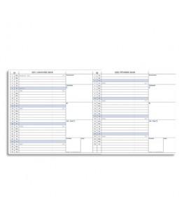 Agenda Mini Best extra plat dépliant 1 mois sur 2 pages papier blanc + répertoire