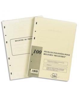 Recharge universelle 100 feuilles foliotées