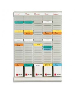 Planning WEEKLY PLANNER 5 bandes de 24 fiches indice 2 - Nobo®