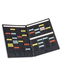 Paire de volets de couverture MINI-PLANNER 4 bandes de 17 fiches indice 1.5 - Nobo®