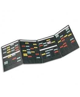 Kit de 4 volets MINI-PLANNER 4 bandes de 17 fiches indice 1.5