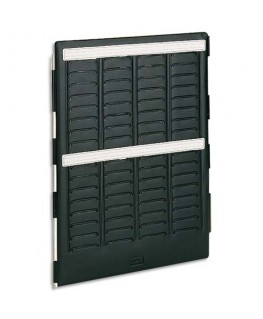 Volet intérieur MINI-PLANNER 4 bandes de 17 fiches indice 1.5 - Nobo®