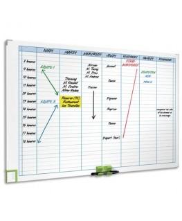 Planning magnétique hebdomadaire performance 8 colonnes - Nobo®