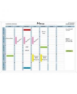 Planning mensuel magnétique 90 x 59 cm vendu en kit avec de nombreux accessoires - Exacompta