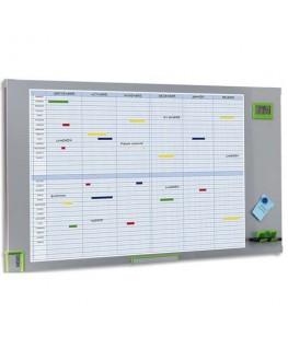 Planning annuel magnétique effaçable 34 lignes par mois 91 x 68.7 cm - Nobo®