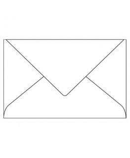 Boîte de 20 enveloppes 120g Pollen 9 x 14 cm blanc - Clairefontaine