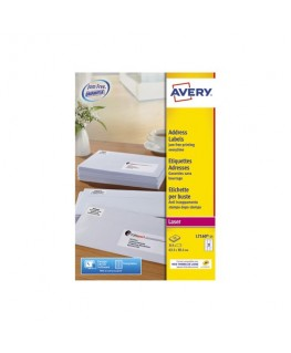 Boîte de 315 étiquettes adresse/expédition laser blanche 63.5 x 38.1 mm L7160-15 - Avery®
