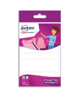 Blister de 30 étiquettes vêtements formes assorties - Avery®