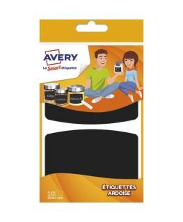 Sachet de 10 étiquettes ardoises noires 95 x 63 mm