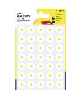 Sachet de 140 œillets diamètre 13 mm blanc - Avery®