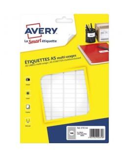 Sachet de 2304 étiquettes multi-usages blanches 8 x 20 mm