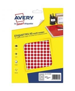 Sachet de 2940 pastilles Ø 8 mm imprimables coloris rouge - Avery®