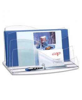 Trieur à enveloppes Ellypse 22.5 x 12.7 x 13 cm coloris cristal - CEP
