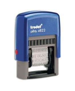 Tampon dateur Printy 4822A BL/BL 12 formules spécial assistantes - encrage bleu - Trodat®