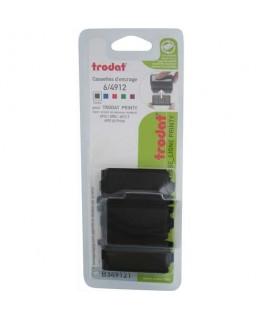 Lot de 3 recharges d'encre 6/4912A compatible PRINTY 4912 / X-PRINT coloris noir - Trodat®
