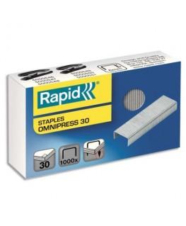 Boîte de 1000 agrafes Supreme Omnipress capacité 30 feuilles - Rapid®