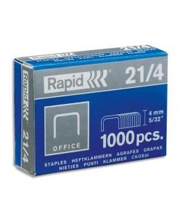 Boîte de 1000 agrafes Nº21/4 galvanisés - Rapid®