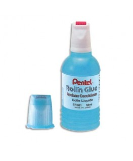Colle synthétique transparente flacon roulette de 30 ml - Pentel®