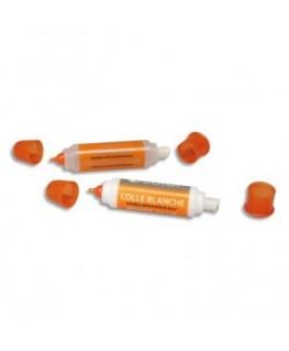 Stylo colle blanche forte avec 1 embout fin et 1 brosse plastique large de 45g - O'Color