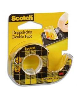 Adhésif double face transparent sur dévidoir