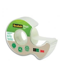 Dévidoir à main transparent en plastique recyclé à 90% avec rouleau Magic Tape Recyclé de 19 mm x 33 m - Scotch®