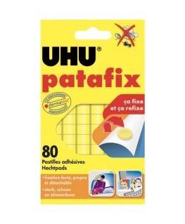 Etui de 80 pastilles adhésives jaunes et prédécoupées Patafix - UHU®