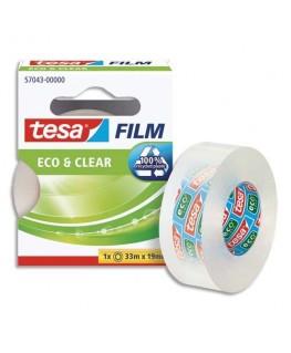 Ruban adhésif Eco & Clear grande transparence 33 m x 19 mm - Tesa®