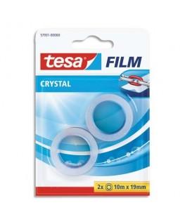 Blister de 2 rubans adhésifs Crystal pour mini dévidoir de 19 mm x 10 m - Tesa®