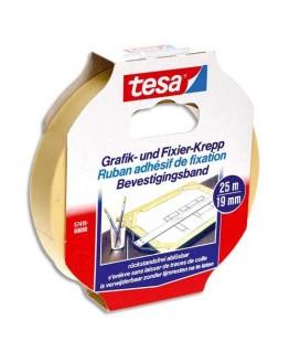 Ruban adhésif papier Krepp spécial arts graphiques format de 19 mm x 25 m - Tesa®