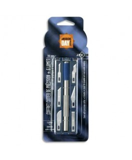 Coffret cutter de précision 14 cm et 6 lames assorties - JPC