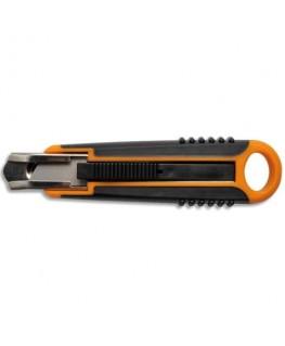 Cutter de sécurité auto-rétractable lame trapézoïdale ajustable spécifique 18 mm - Fiskars®