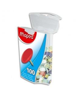 Boîte de 100 punaises en acier galvanisé 10 mm coloris assortis - Maped®